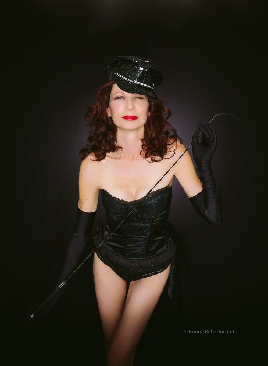 Boudoir-Woman with whip